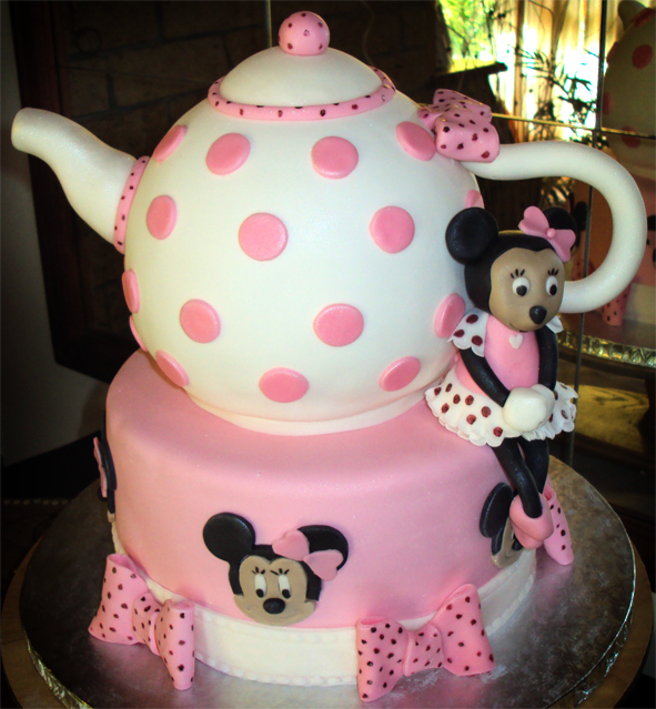 Delana S Cakes Minnie Mouse Tea Party Cake