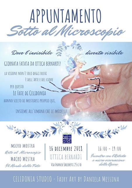 Locandina Mostra Fate e micro Sculture di Celidonia