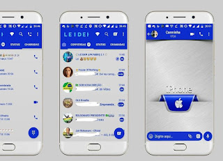 iPhone Theme For GBWhatsApp By Leideh