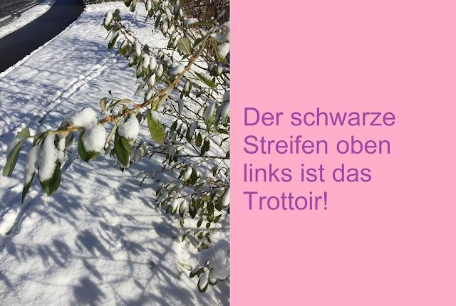 Trottoir schneefrei