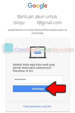 cara mengganti kata sandi gmail yang lupa password