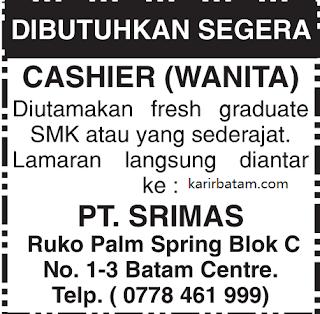 Lowongan Kerja PT. Srimas Batam Centre