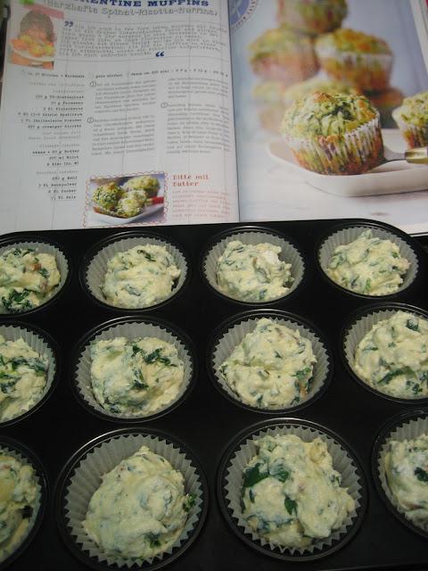 2x herzhaft aus dem Ofen… Kartoffelauflauf und Florentiner-Muffins mit Spinat