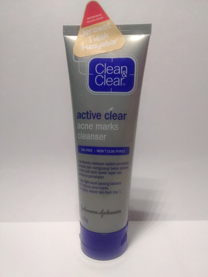 REVIEW. Clean & Clear, active clear acne marks cleanser