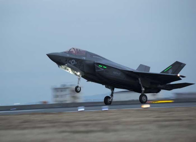 VIDEO - US MARINES F-35 ARRIVES IN JAPAN