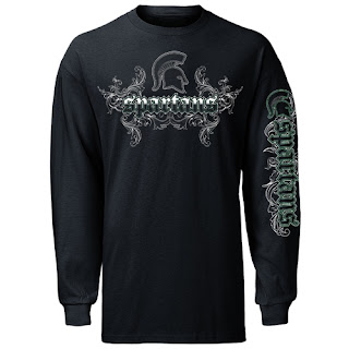 8f8d9fd678 MSU Michigan State 'Old English Flourish' Black Long Sleeve (Was: $14.99 |  $12.99) - If your personality calls for a little more design in your  wardrobe, ...