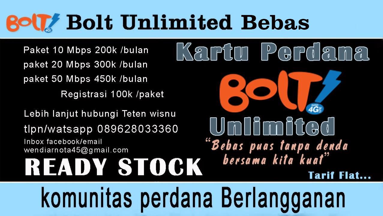 Bolt Unlimited Bebas Kartu