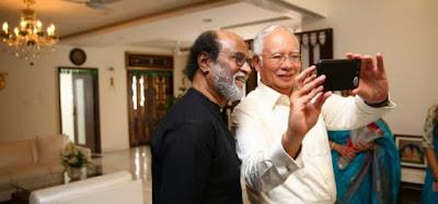Rajini and Najib watch Kabali over tea