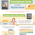 Make-Over Any Room With These Smart Phone Hacks! #Infographic