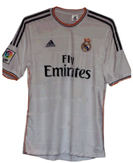 New Real Madrid shirt for 2013-2014 season with Fly Emirates as sponsor