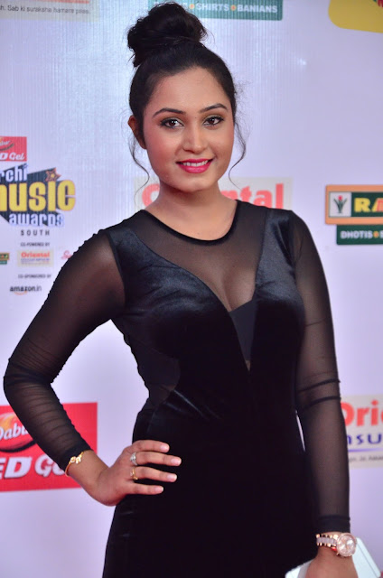 Actress Venila at Mirchi Music Awards South 2017