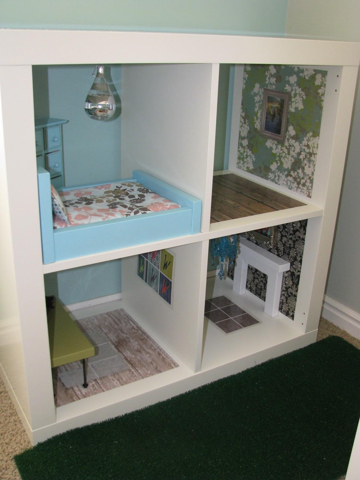 Dollhouse Bookcase Diy: Occasionally Inspired: Bookshelf Barbie House
