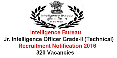 IB jr.Intelligence Officers Recruitment 2016
