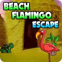 AvmGames Beach Flamingo Escape Walkthrough