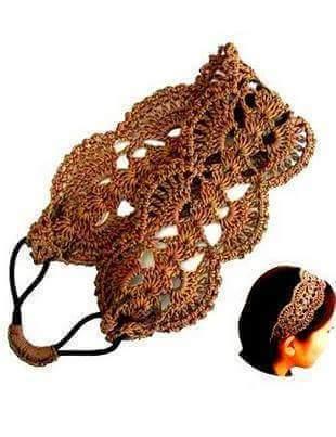 Patrón #1406: Cintillo a Crochet