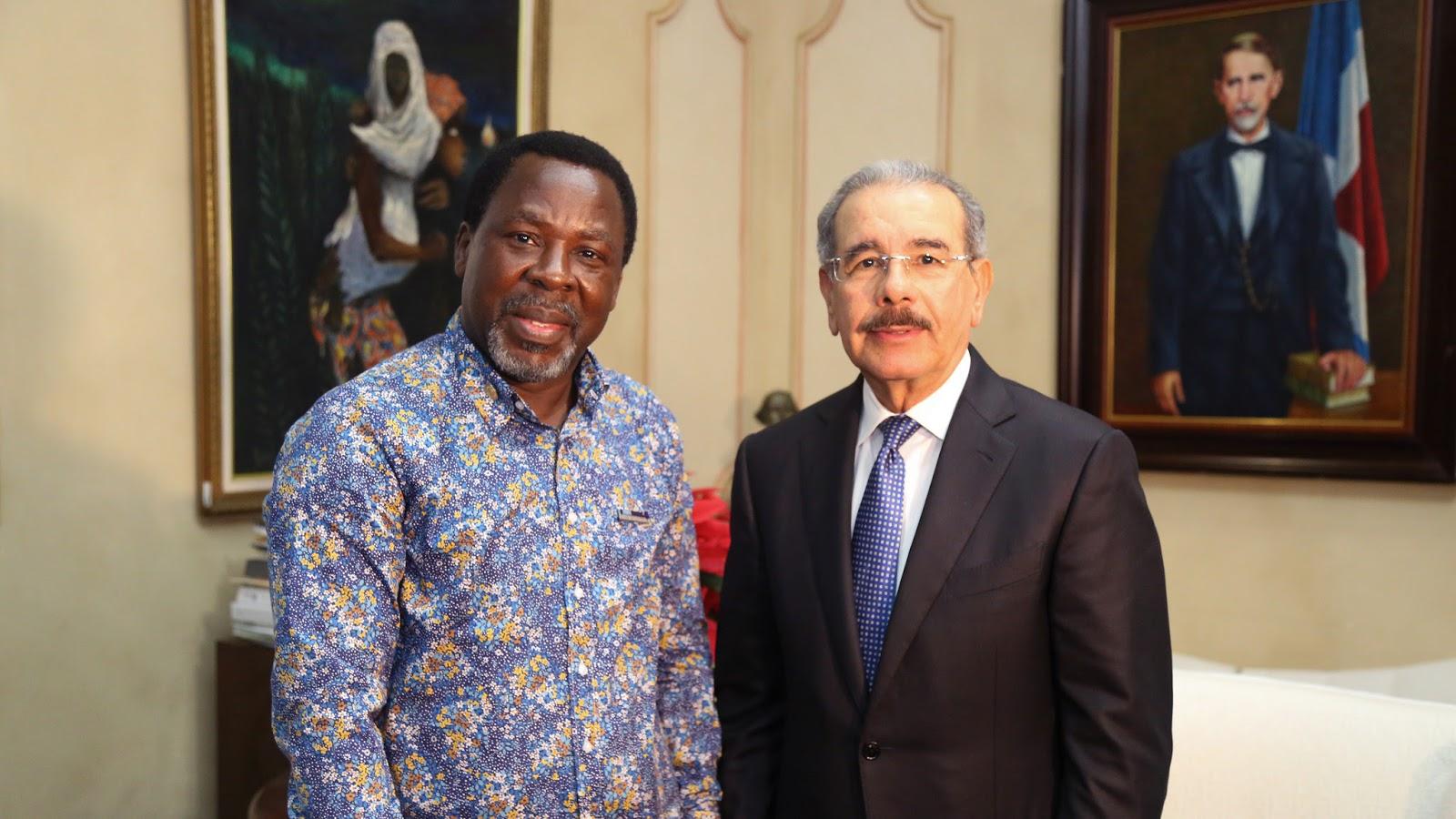 VIDEO: Presidente Danilo Medina recibe al profeta nigeriano T.B Joshua