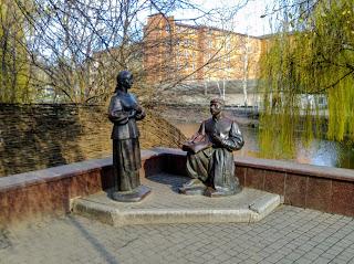Миргород. Скульптура. Вакула и Оксана