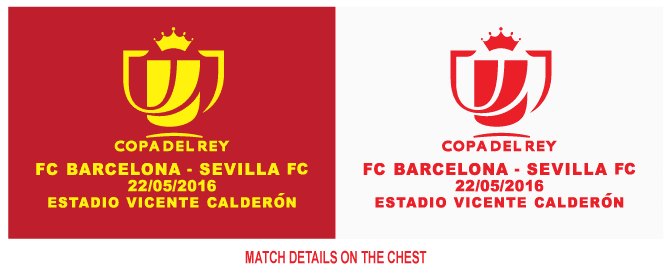 0f13e0f909e Additional to the match details, on the right sleeve Copa Del Rey logo patch.  Same Patch design as previous final match.