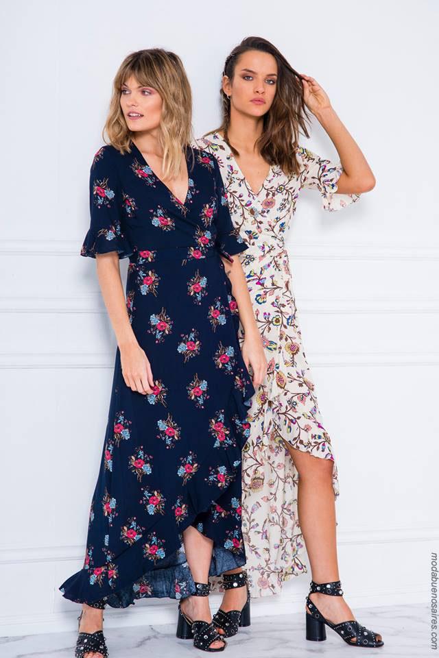 Moda vestidos largos de verano 2018. Moda mujer 2018.