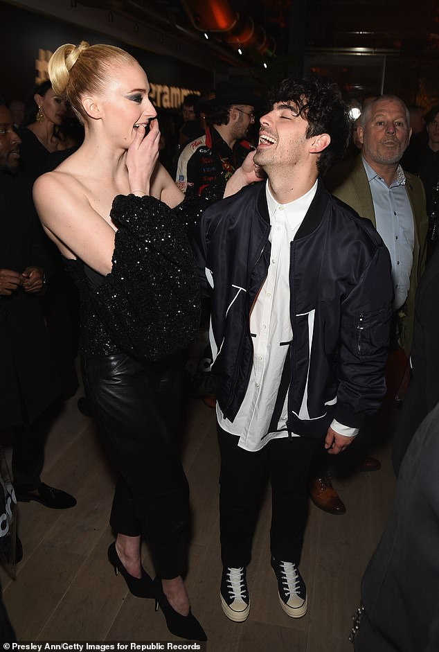 #Grammy2019: Sophie Turner and Joe Jonas at Republic Records' Grammy after party
