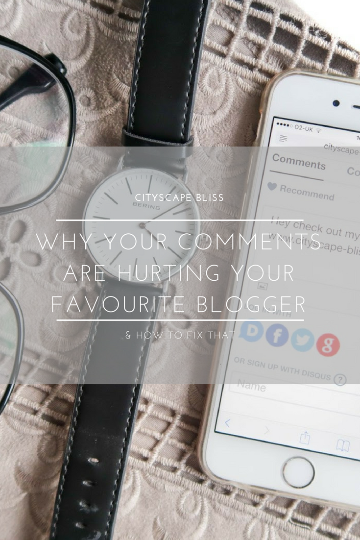 Why your comments are hurting your favourite blogger