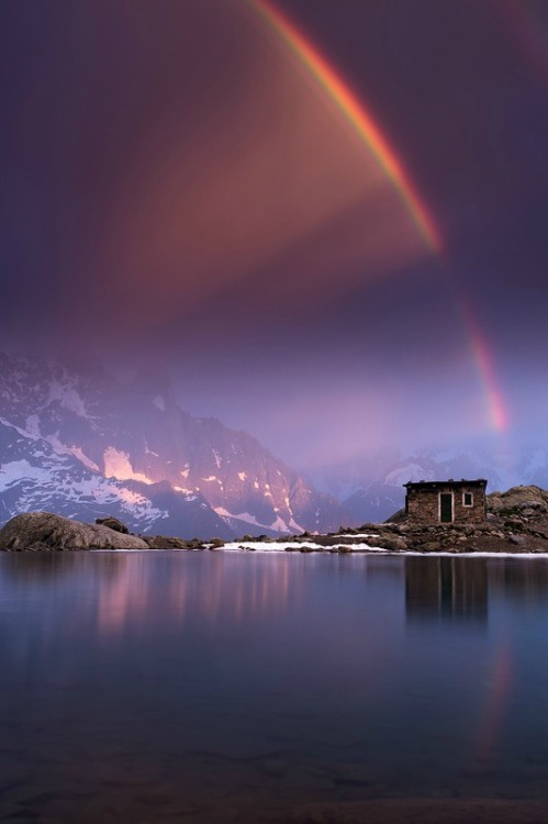 Unexpected Lightshow, Lac Blanc, France