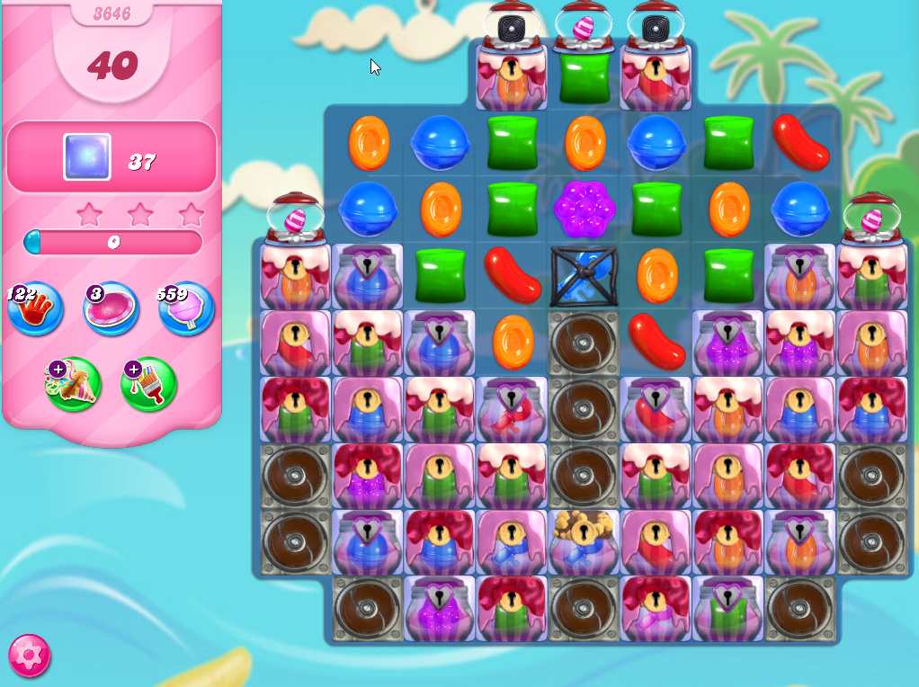 Candy Crush Saga level 3646