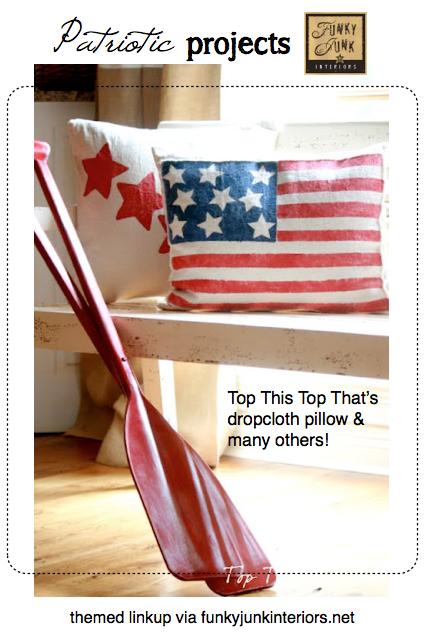 patriotic projects via Funky Junk Interiors
