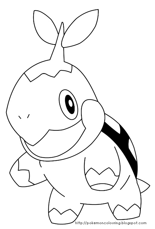 pokemon coloring pages turtwig - photo#12