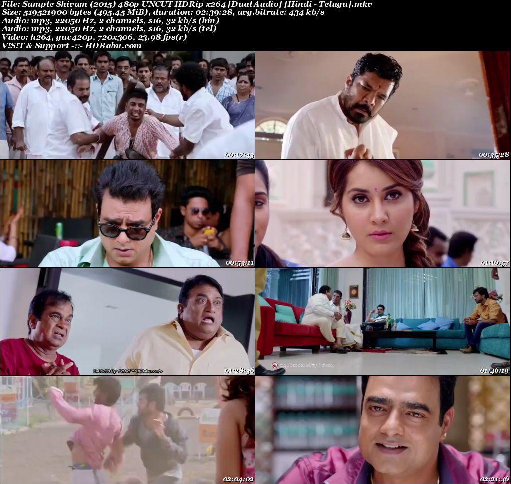Shivam (2015) 720p UNCUT HDRip x264 [Dual Audio] [Hindi - Telugu] Screenshot