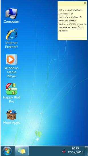 التطبيق Win7imulator