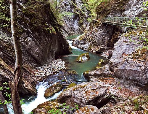 Schlucht Schweiz Gruyere