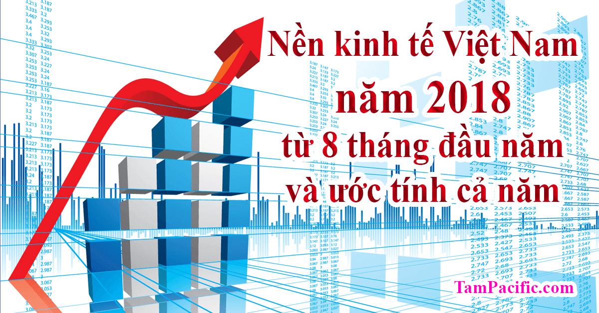 Nền kinh tế Việt Nam năm 2018 từ 8 tháng đầu năm và ước tính cả năm