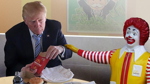 Apetito presidencial: Trump enviaba a su jefe de guardaespaldas por hamburguesas de McDonald's