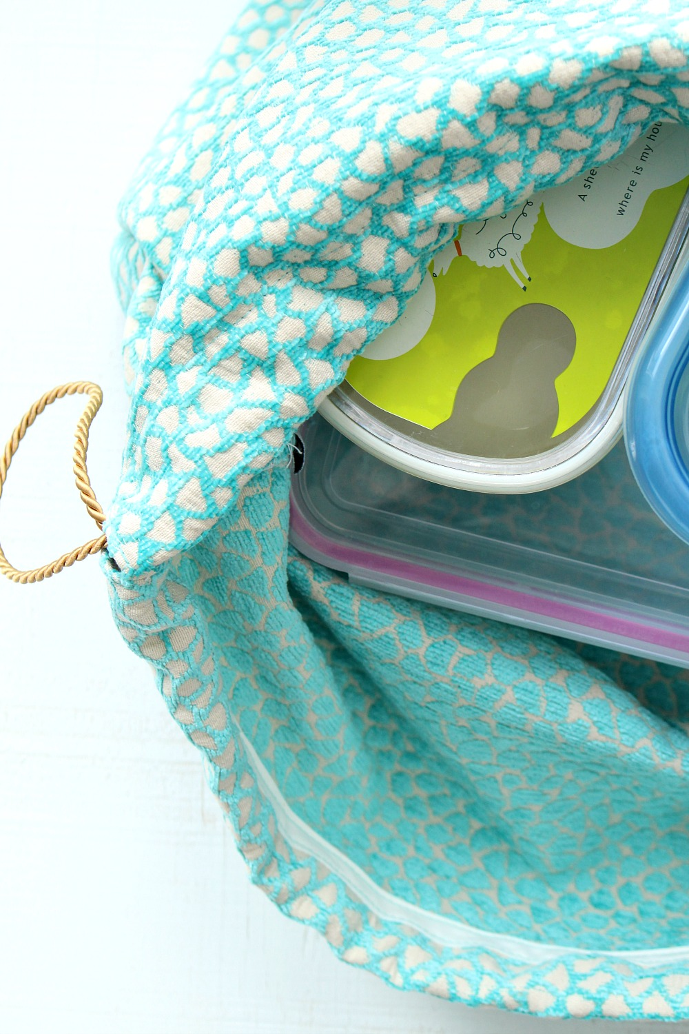 DIY Drawstring Lunch Bag