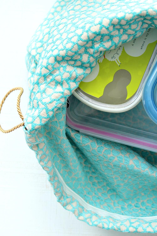 DIY Drawstring Lunch Bag