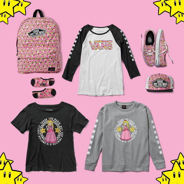 nintendo x vans apparel kmb princess peach