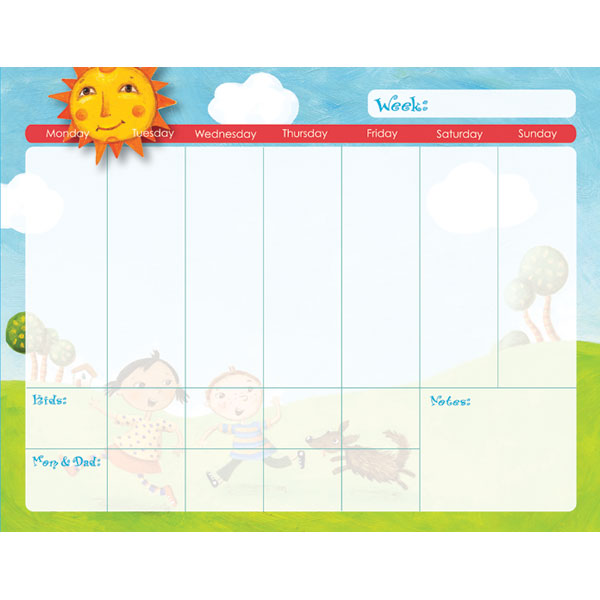 Kid calendar template 10 free printable calendar pages for kids fancy kids weekly calendar template sketch certificate resume maxwellsz