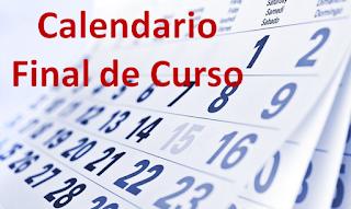 Calendario fin de curso para alumnado
