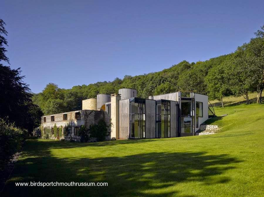 Original casa de campo contemporánea en Hampshire, Gran Bretaña