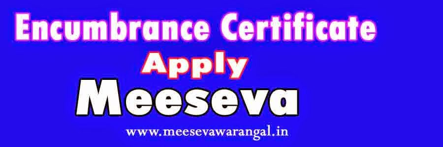 Encumbrance Certificate Apply in Meeseva