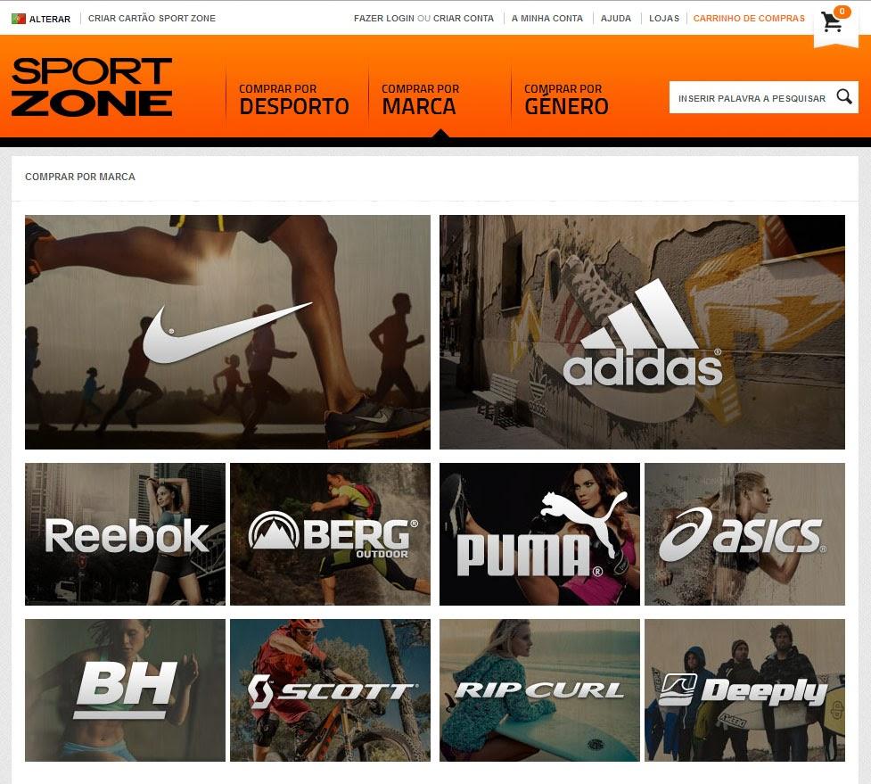 f13fc11e58 A Sport Zone acaba de lançar oficialmente a sua loja online