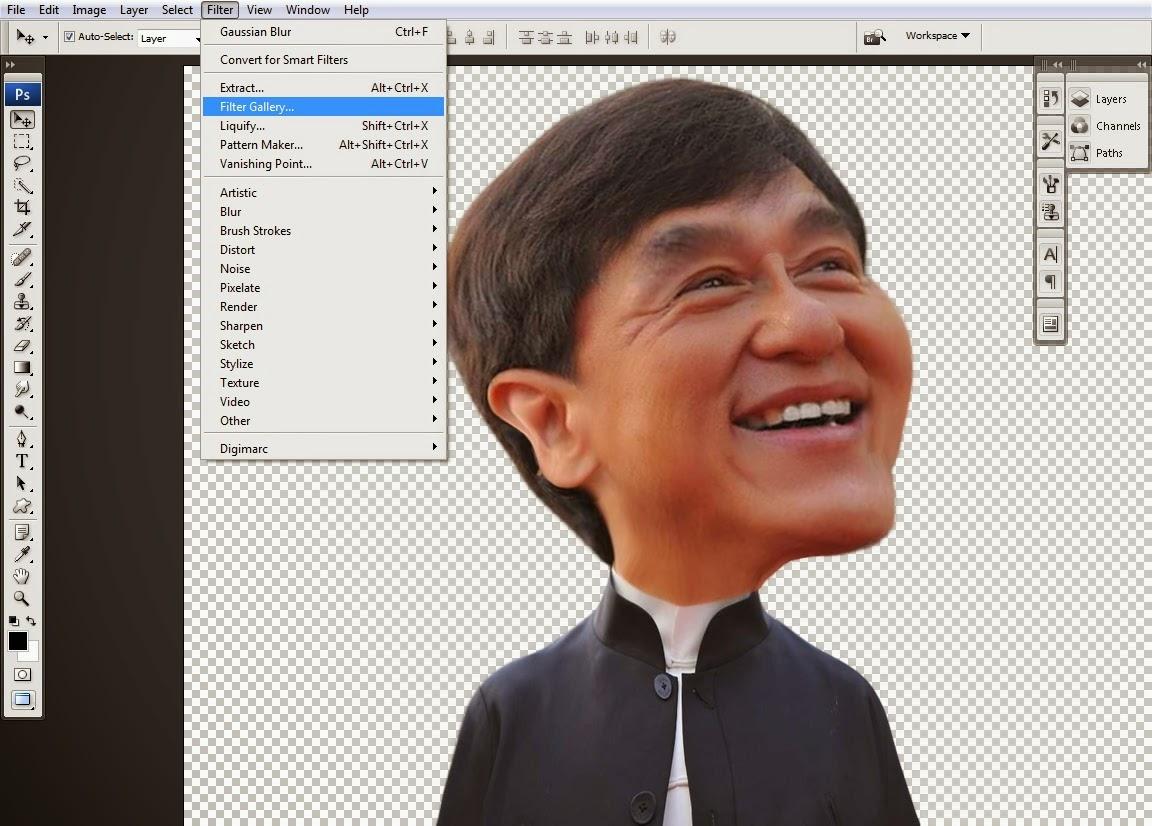 Cara Membuat Karikatur Dengan Adobe Photoshop Kelas Desain