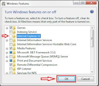 Cara Menonaktifkan Internet Explorer Di Windows  Cara Menonaktifkan Internet Explorer Di Windows 7