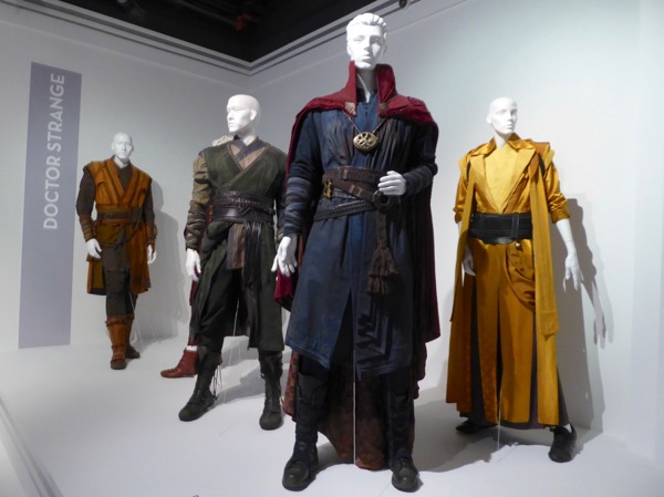 Doctor Strange movie costume exhibit FIDM Museum LA