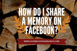 How do I share a memory on Facebook immediately?