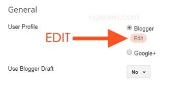 Mengedit profil blogger