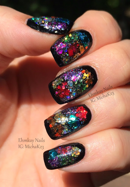 Guest Post Color Block Glitter Framed Nail Art With Ehmkay Nails - Cosmetic Sanctuary