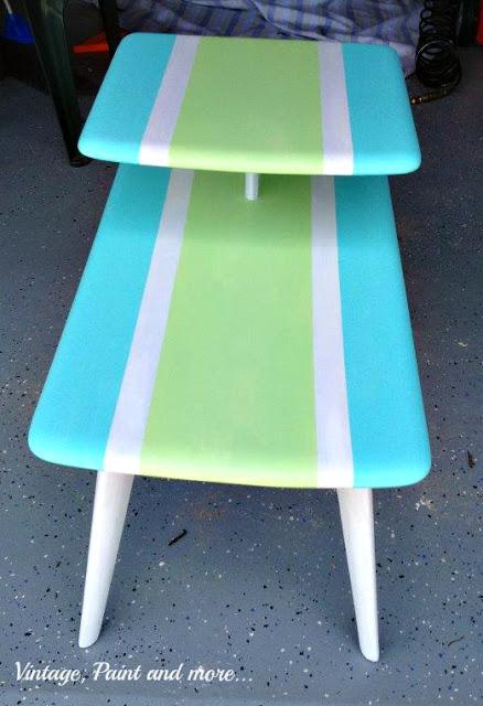 upcycled end table inspired by surf board
