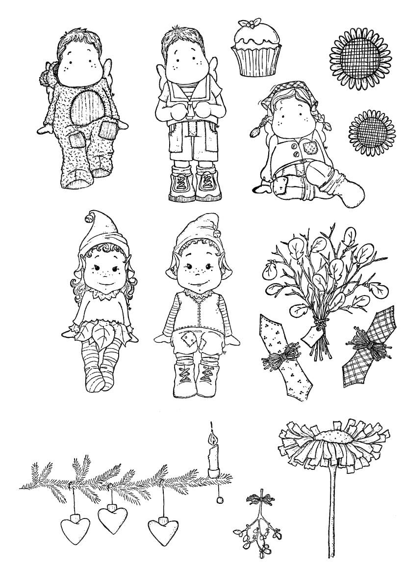 Новогодние картинки черно белые для лд, бабочки карандашом